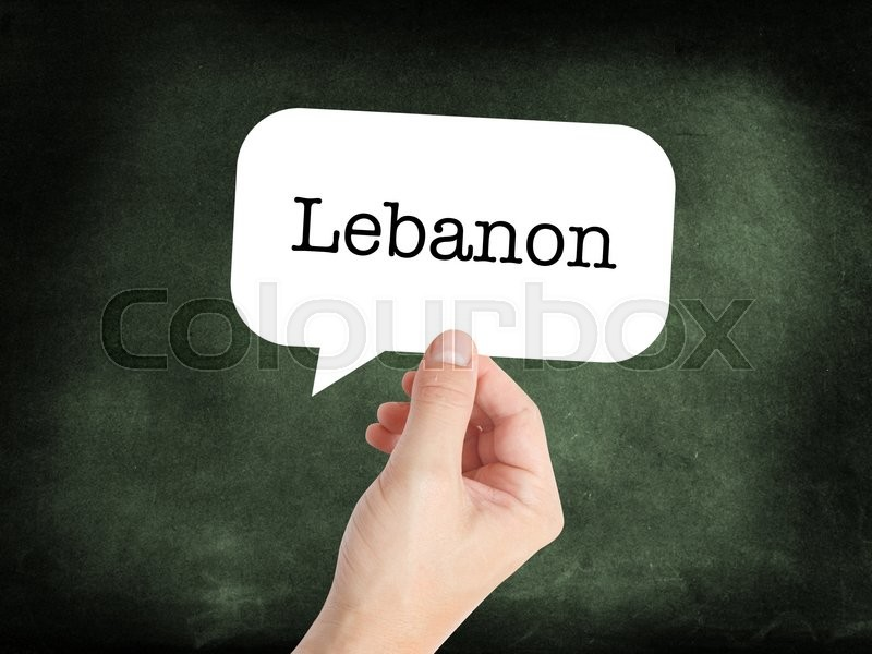 Stock image of 'Lebanon concept in a speech bubble'