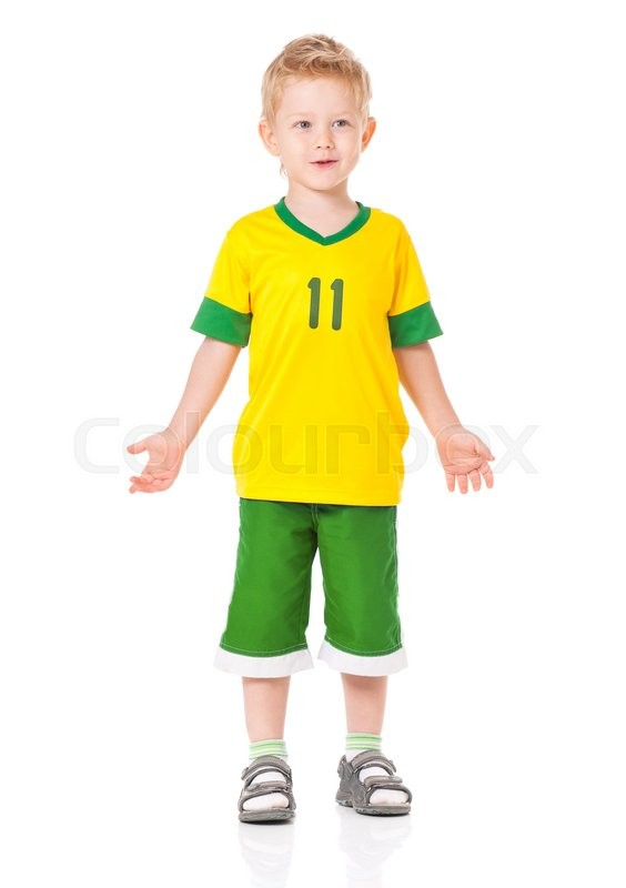 Stock image of 'Portrait of little boy, isolated on white background'
