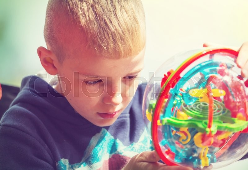 Stock image of 'Boy is playing in the open air'
