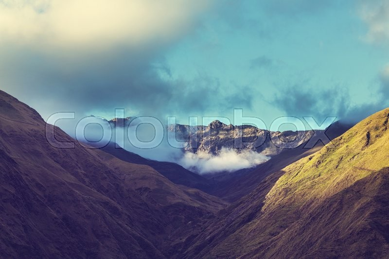 Stock image of 'High snowy mountains in Bolivia'