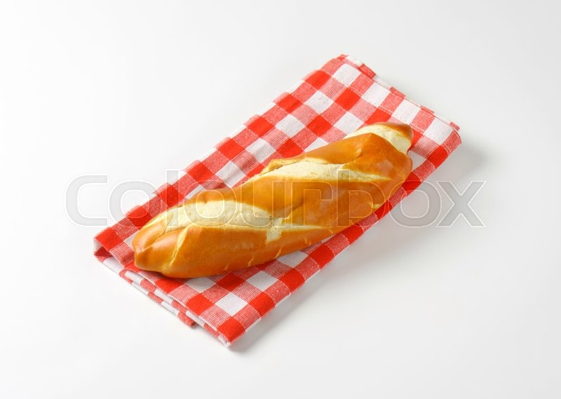 Stock image of 'Plain finger roll with a soft crust'