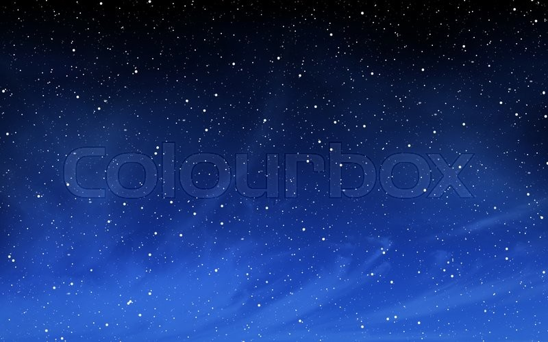 Stock image of 'Deep night sky with many stars background'