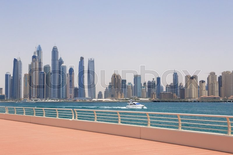 Stock image of 'Sight of Marina district in Dubai'