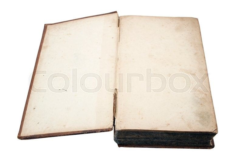 Stock image of 'Old book isolated on white background'