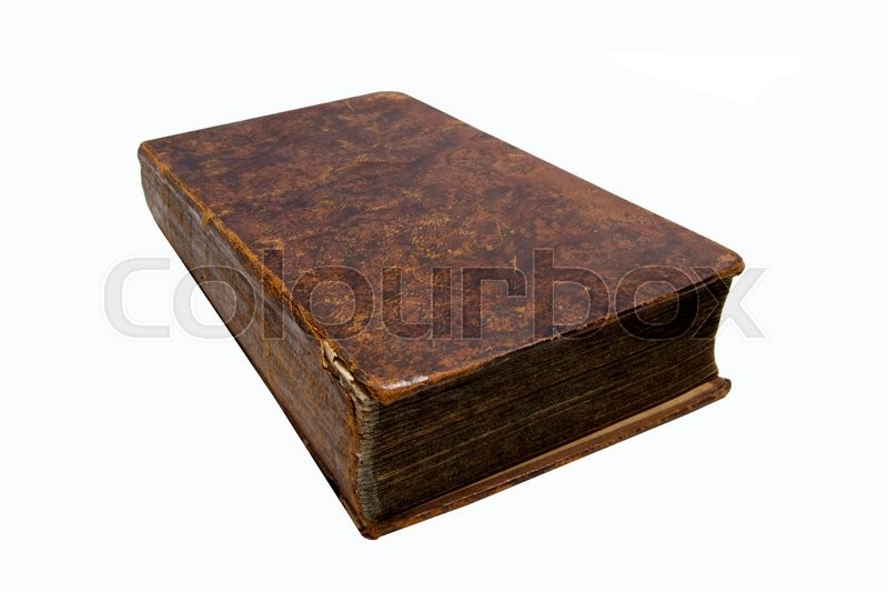 Stock image of 'Old books isolated on white background'