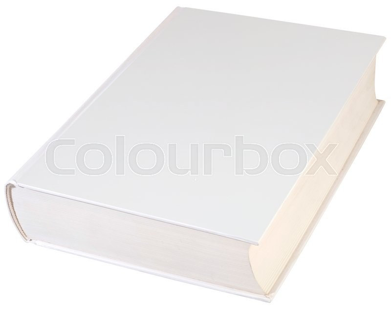 Stock image of 'Empty Hardbook Cover Isolated with Clipping path'