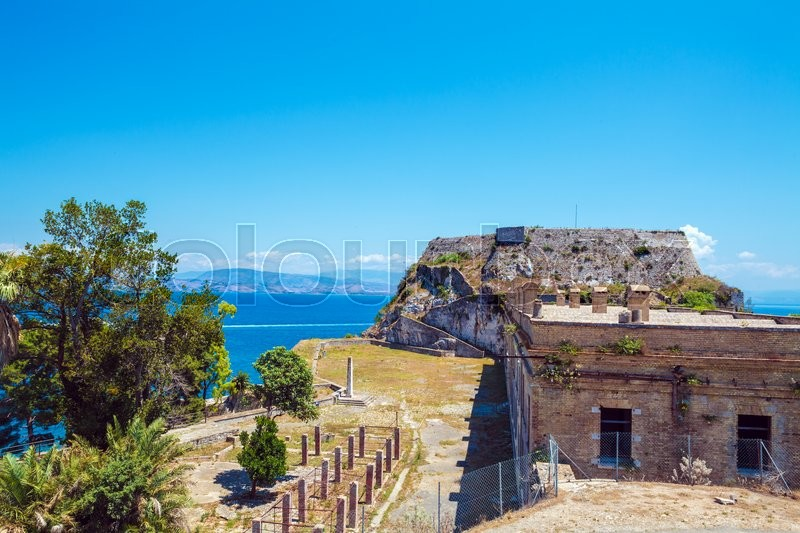 Stock image of 'Old Fortress in Kerkyra, Corfu island, Greece'