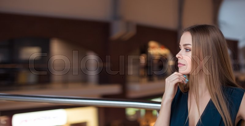 Stock image of 'Portrait of a successful business woman in the office. place for your text'