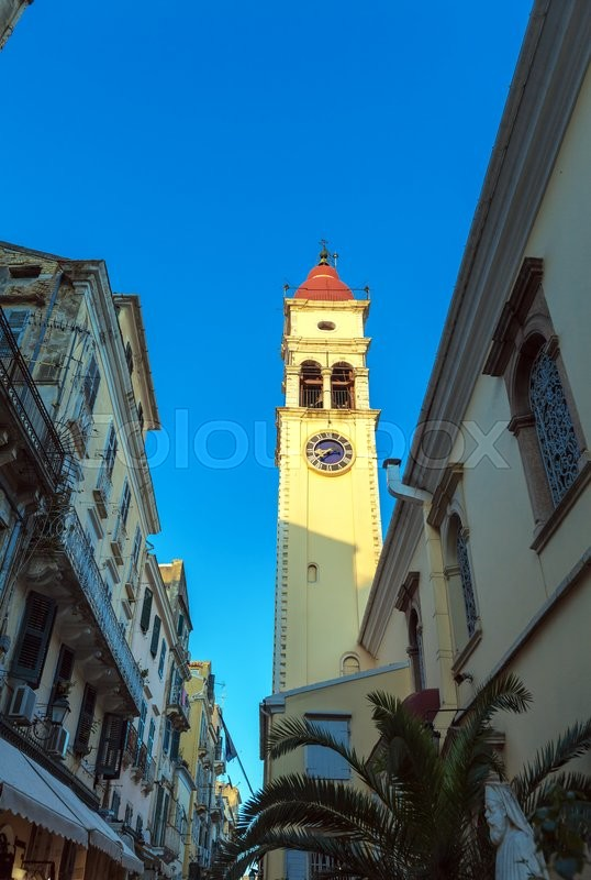 Stock image of 'Church of Saint Spyridon of Trimythous (1590), Kerkyra, Corfu island, Greece'