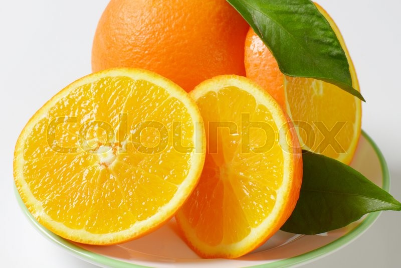 Stock image of 'Detail of fresh orange slices'