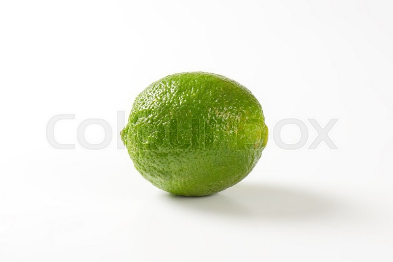 Stock image of 'fresh lime fruit on white background'