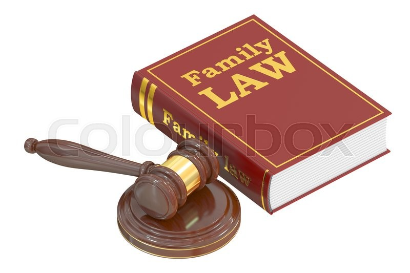 Stock image of 'Family Law concept, 3D rendering isolated on white background'