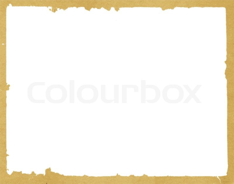 Decorative frame from old paper | Stock Vector | Colourbox