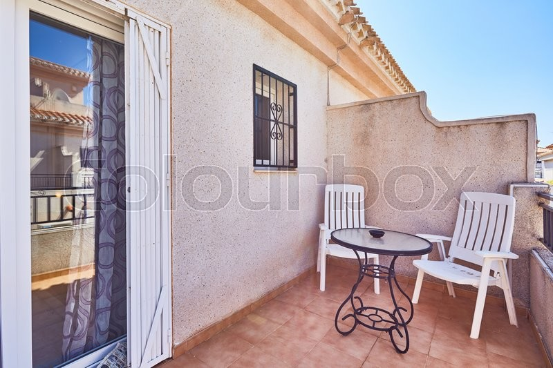 Editorial image of 'Orihuela, Spain- June 06, 2016: Apartments and villas for tourists near the sea in Spain in the region Orihuela.'