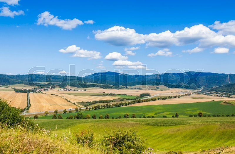 Stock image of 'Rural summer landscape in Spis region, Eastern Slovakia'