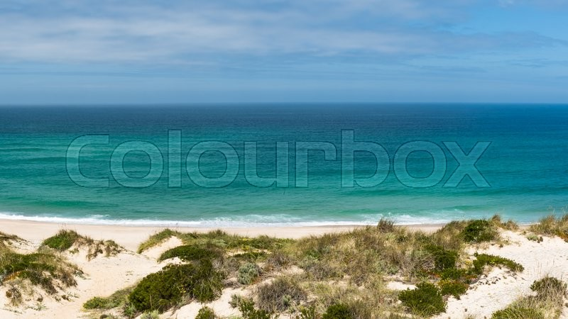 Stock image of 'Praia Del Rei, Portugal. Portuguese Atlantic coast.'
