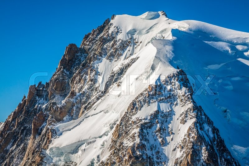 Stock image of 'Mont Blanc, Mont Blanc Massif, Chamonix, Alps, France'