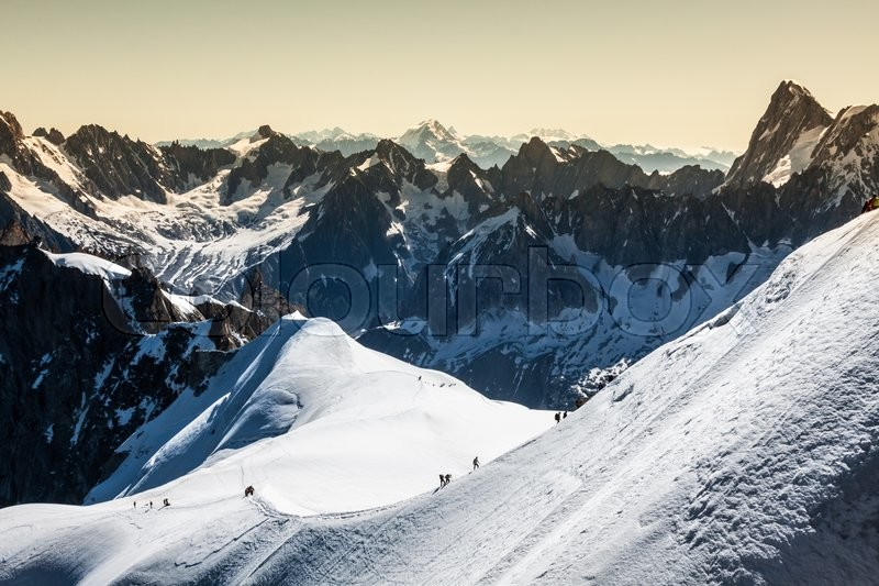 Stock image of 'The Alps over Chamonix'