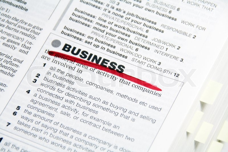 business vocabulary definition