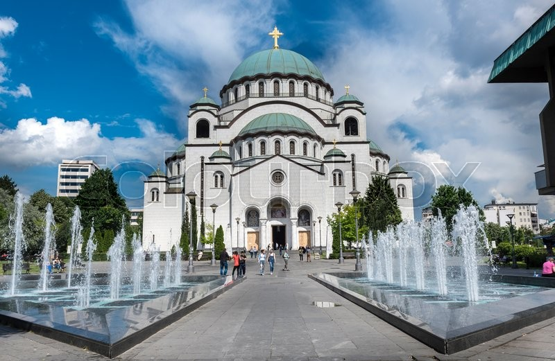 Stock image of 'The Cathedral of Saint Sava in Belgrade, Serbia'