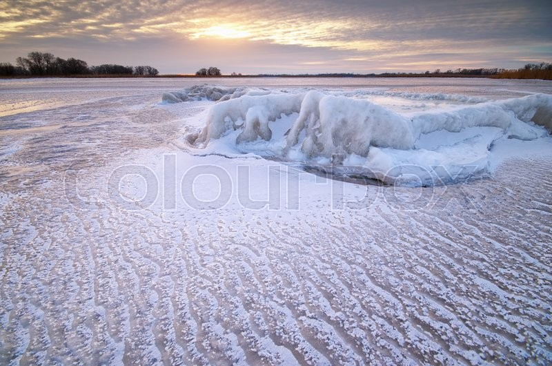 Stock image of 'Winter landscape. Composition of nature.'