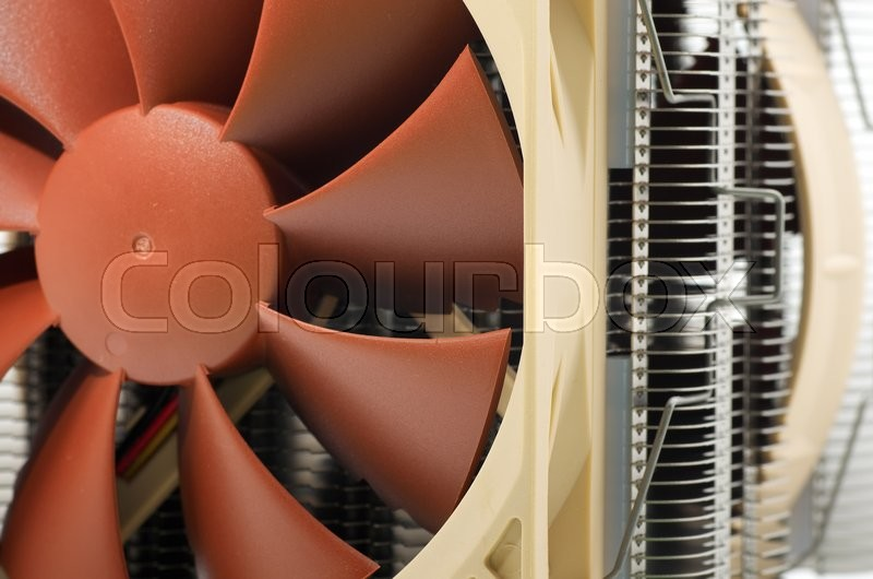 Stock image of 'Cooler computer fan equipment. Technology design.'