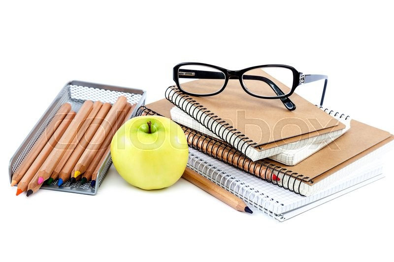 Stock image of 'School and office supplies isolated on white background. Back to school.'
