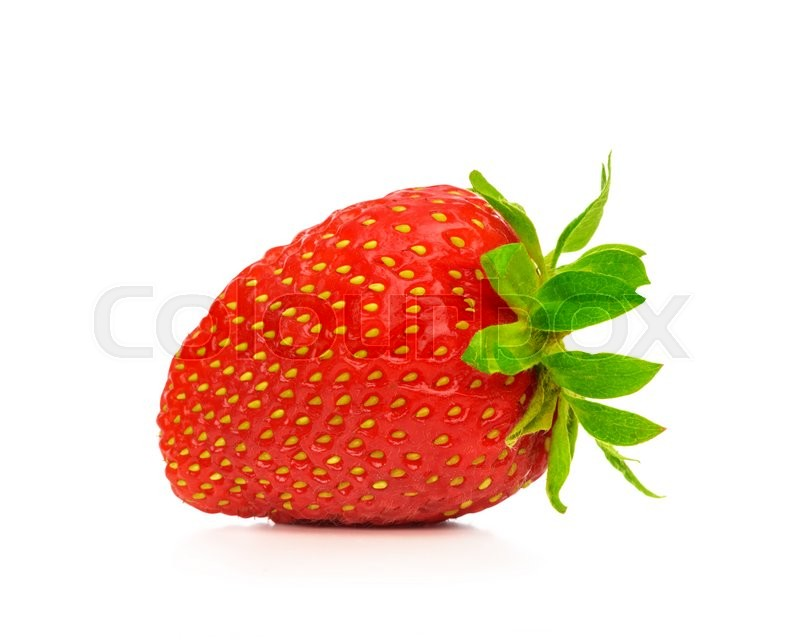 Stock image of 'Red berry strawberry isolated on white background'