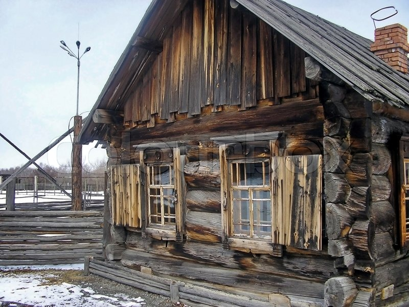 The Rural House In Siberia Image 1953790 on Barn Style House Plans