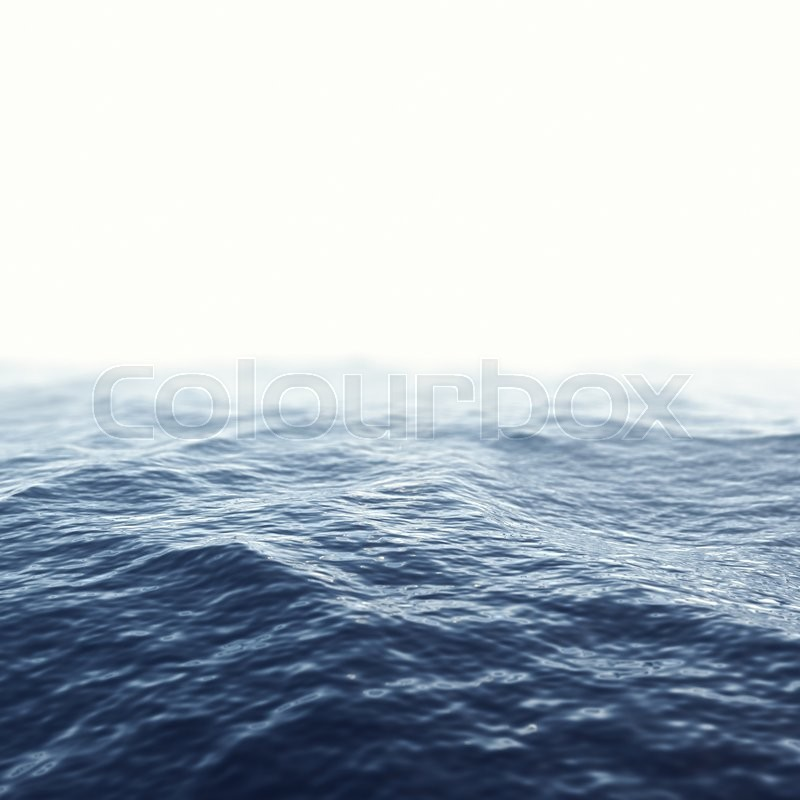 Stock image of 'Caribbean sea, ocean with focus effect. 3d illustration'