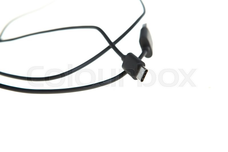 Stock image of 'usb-с cable isolated on a white   background'