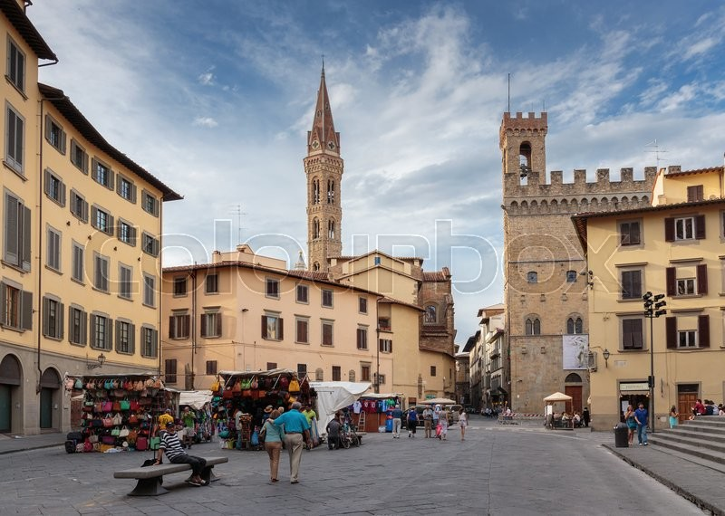 Editorial image of 'FLORENCE, ITALY - 23 JUNE, 2014: General view street in the old town'