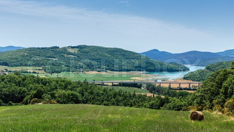 Stock image of 'Rural Italian landscape in Tuscany'