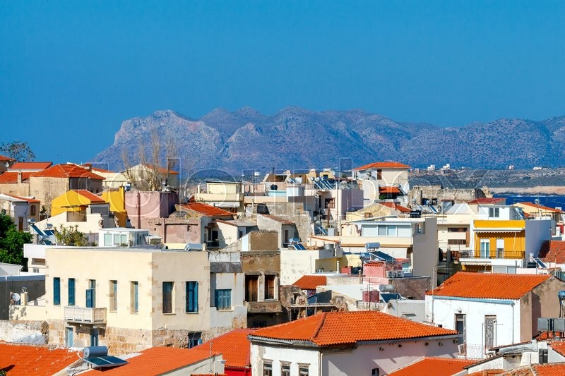 Stock image of 'Chania. Aerial view from the hill Schiavo.'