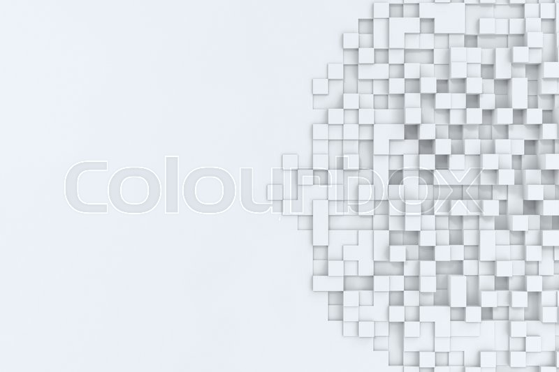 Stock image of 'Rectangular cubes abstract bacgkround, 3d illustration high resolution'