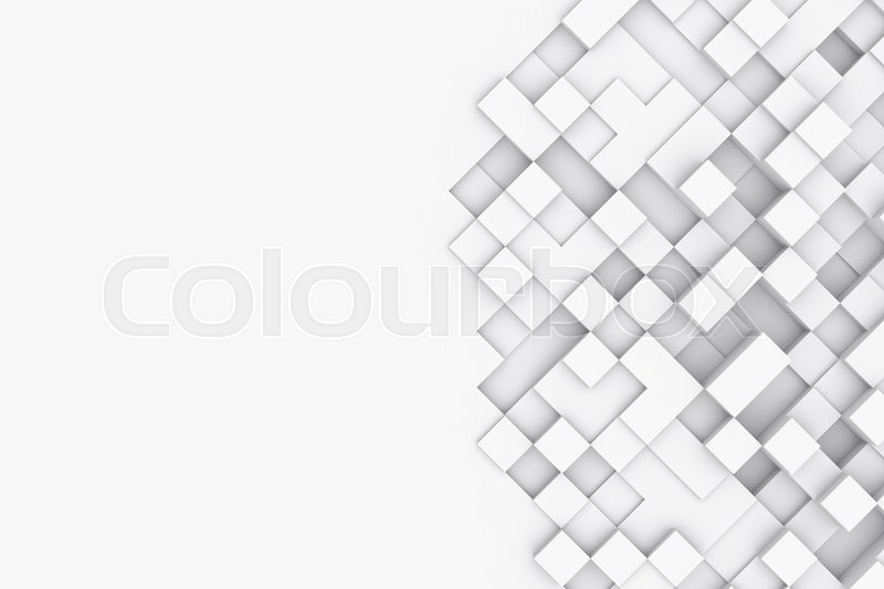 Stock image of 'Background with abstract cubes, 3d illustration high resolution'