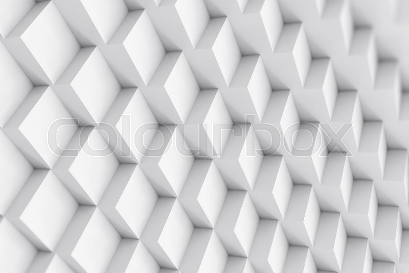 Stock image of 'Abstract cubical background with depth of field effect. 3d illustration'