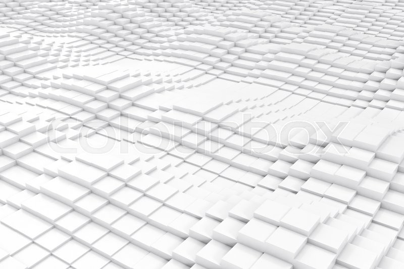 Stock image of 'Abstract cubes in the form of a wave. 3d illustration'