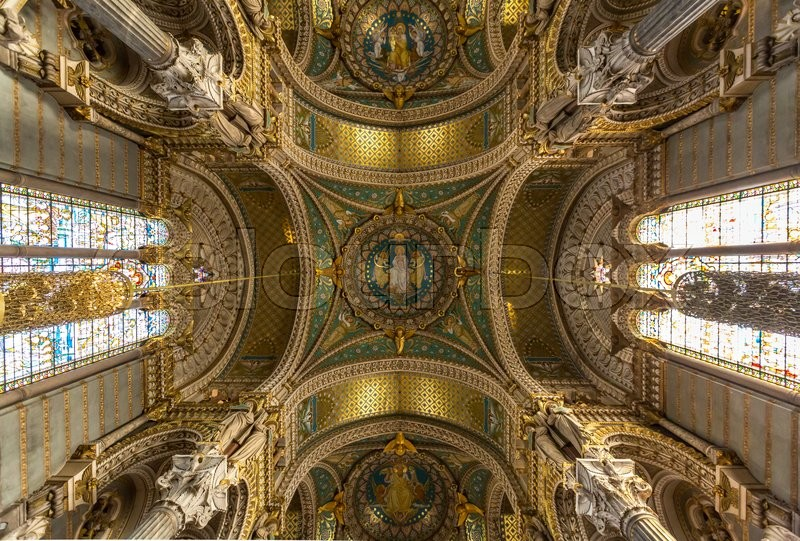 Editorial image of 'Lyon Notre-Dame de Fourviere Basilica Church France'