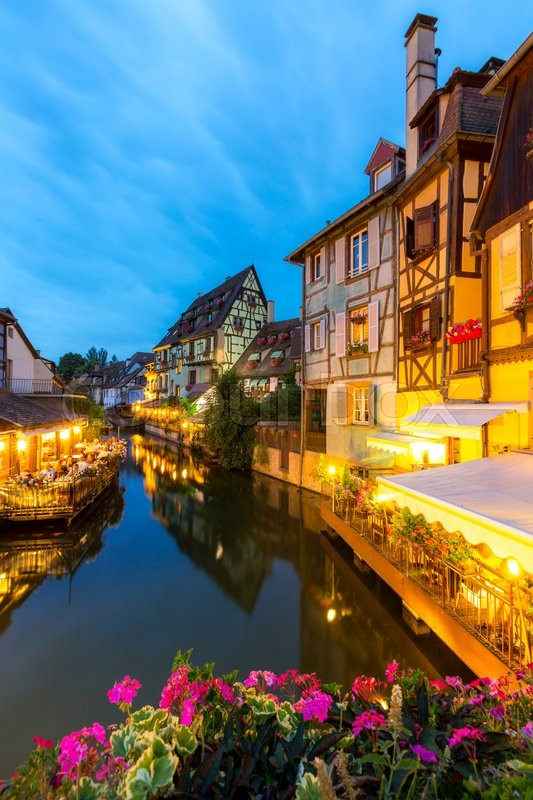 Stock image of 'Colmar France Night'