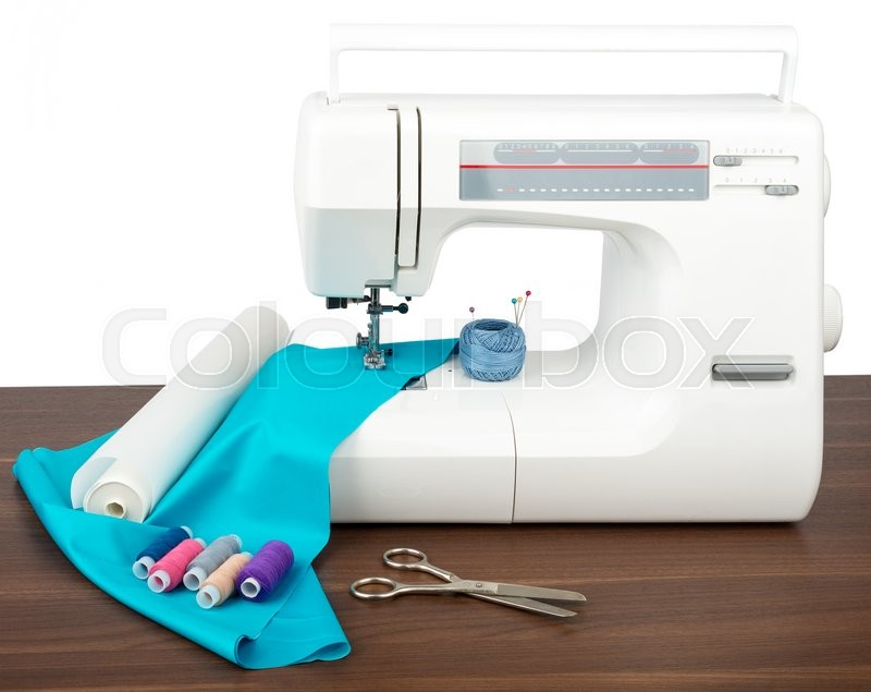 Stock image of 'Tailor workshop with sewing machine'