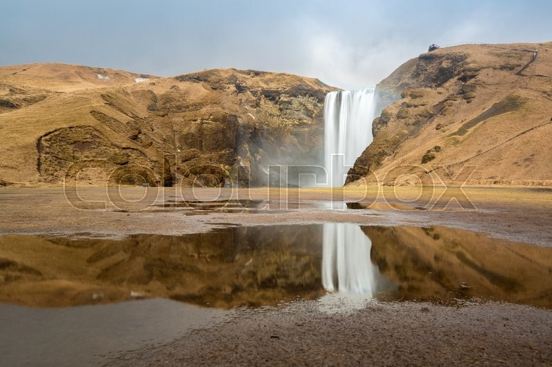 Stock image of 'skogafoss waterfall on the South of Iceland'