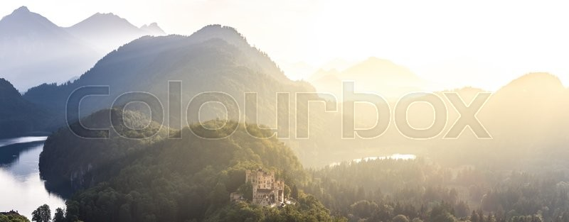 Stock foto af 'panorama, panoramisk, neuschwanstein'