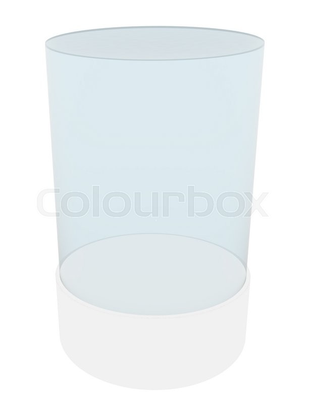 Stock image of '3D empty glass cylinder for exhibit. 3D rendering'