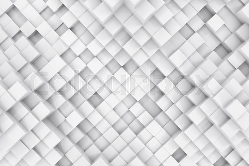 Stock image of 'Abstract background made of cubes. 3d illustration'