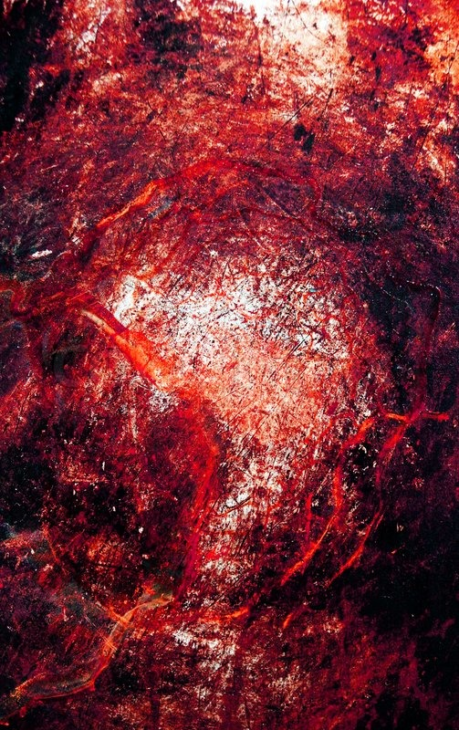 Scratched Metal Grunge Surface With Blood