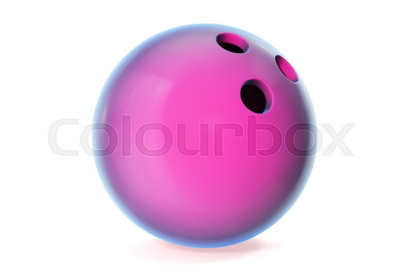 Stock image of 'Colorful bowling ball isolated on white background. 3d illustration'