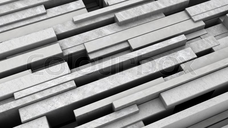 Stock image of '3d illustration of diagonal concrete blocks background'