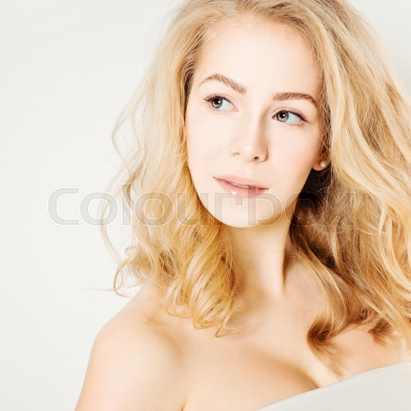 Stock image of 'Happy Woman looking up'