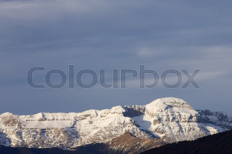 Stock image of 'Tendenera Mountains in Tena Valley, Pyrenees, Huesca, Aragon, Spain.'